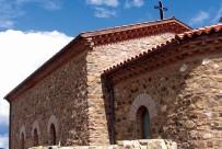 Югоизточен ъгъл на църковния ансамбъл, с мартириум от VI век и църквата от XV век